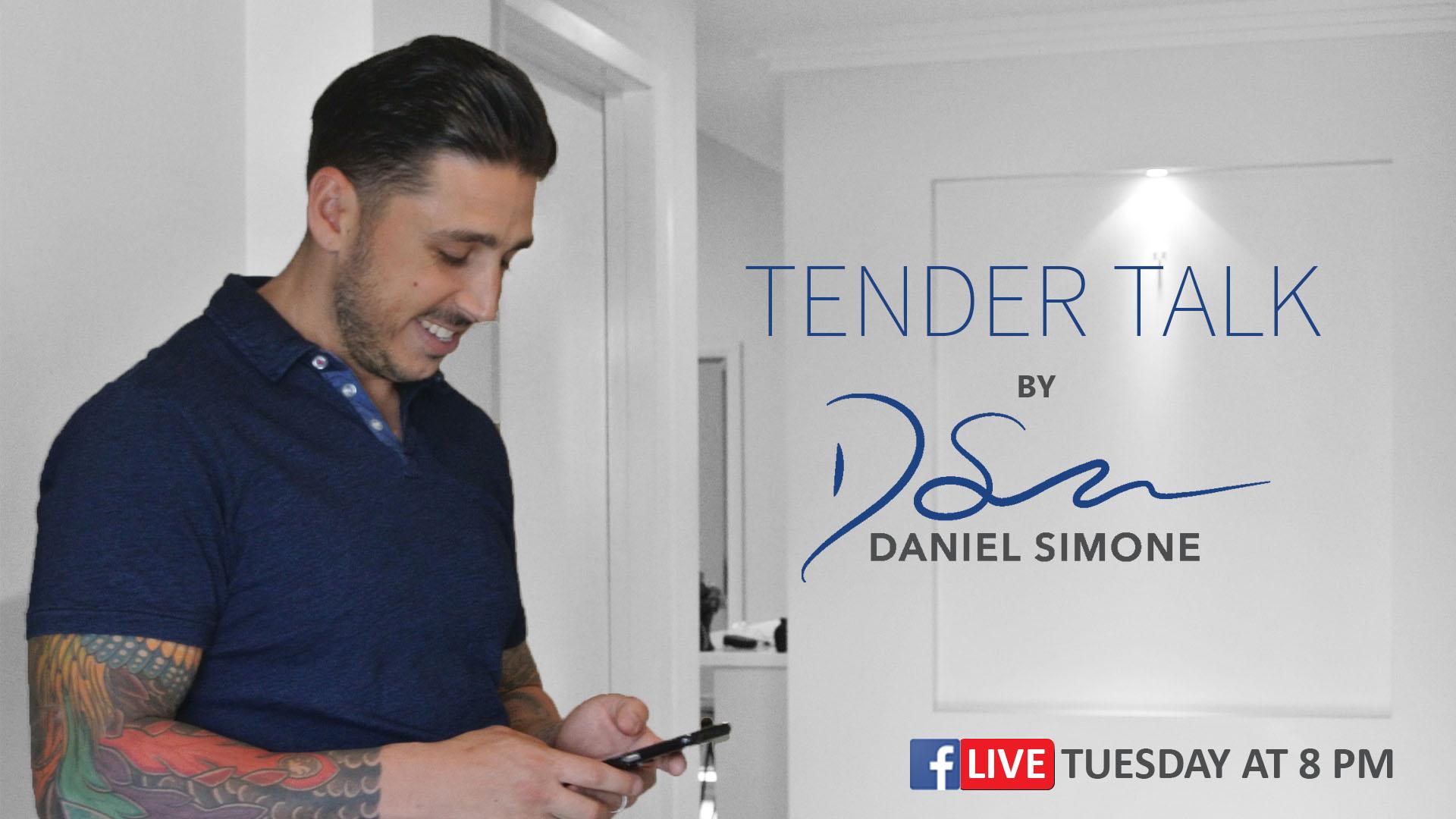Join me on Facebook for Live Tender Talk
